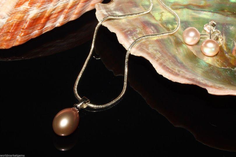 pearlsilvernecklace8 9mmpendantdropshapelavenderfr