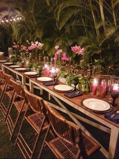 Orchids long table
