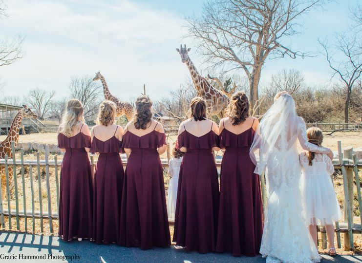 Bridesmaids and Giraffes