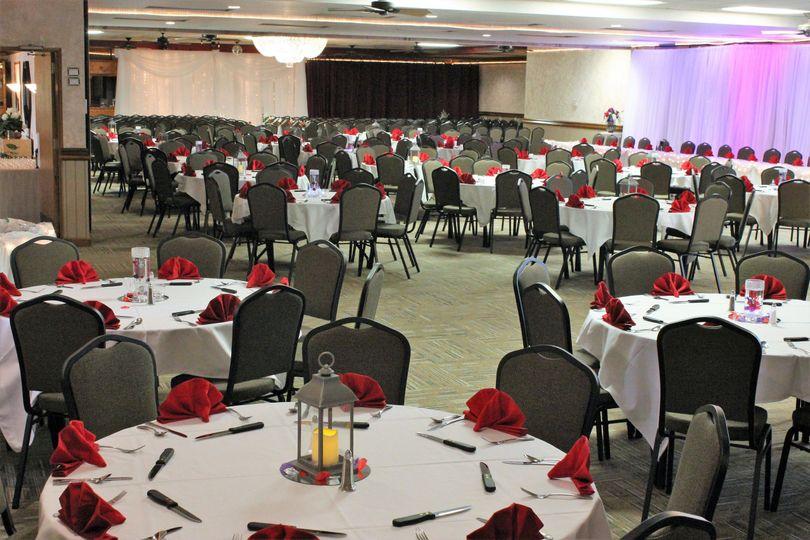Ballroom with ceremony