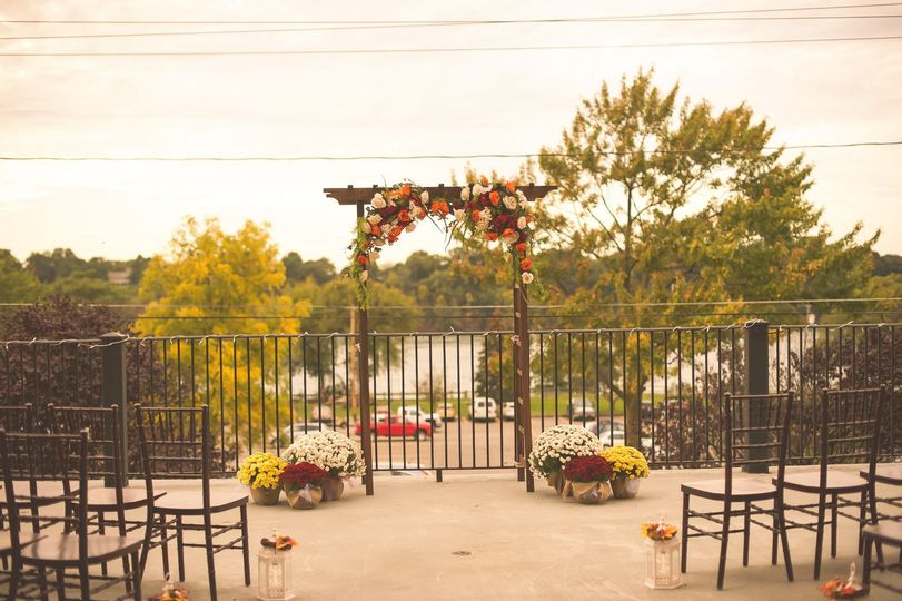 Fall Sunset Terrace wedding