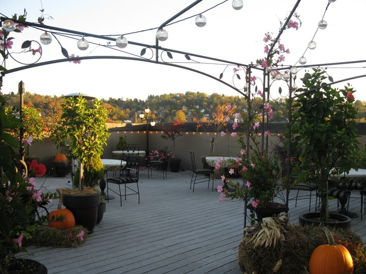 Enjoy fine dining at it's best on our open rooftop terrace with a panoramic view of Morgantown.