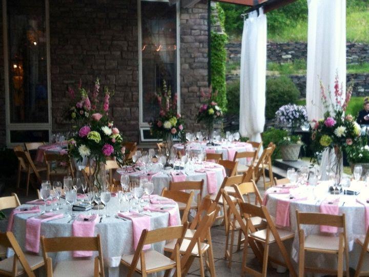 Tmx 1476927729762 Reception On Patio Golden wedding catering