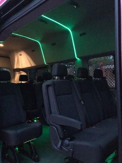 Executive Transit interior with fiber-optics