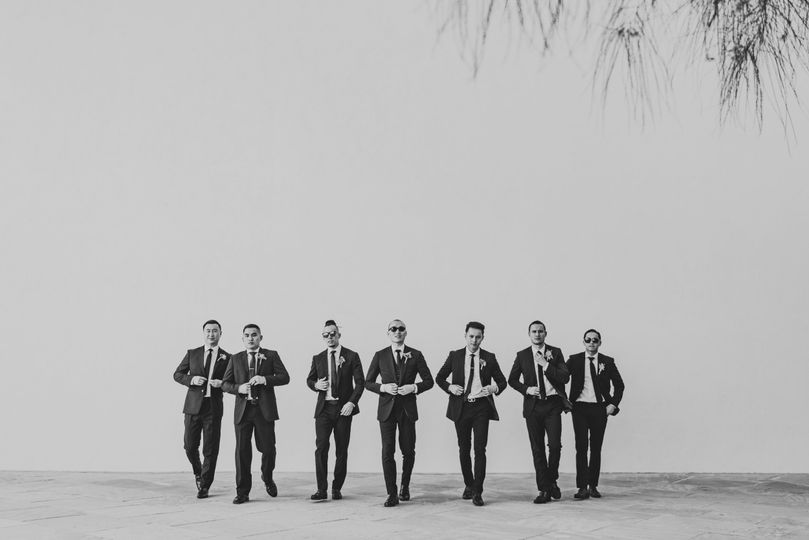 Groomsmen doing the walk