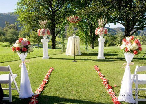 Ceremony Decor and Floral Arrangements by Weddings by DK