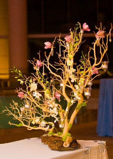 Sign In Table Centerpiece by Weddings by DK