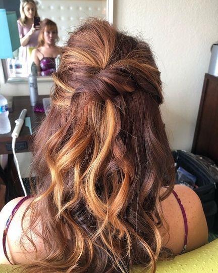 Bridesmaid Hair Styling
