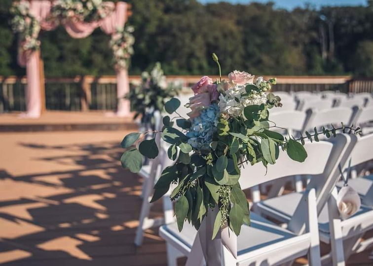 View of the ceremony dock