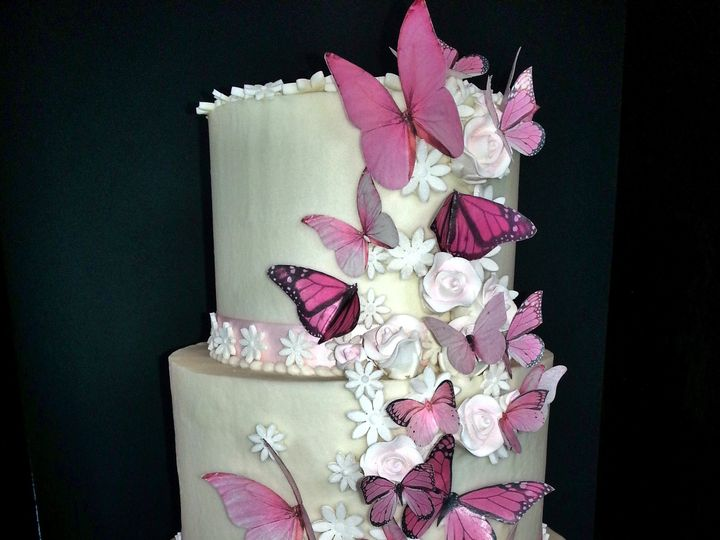 Tmx 1480274449959 Butterfly Baby Shower Frederick wedding cake
