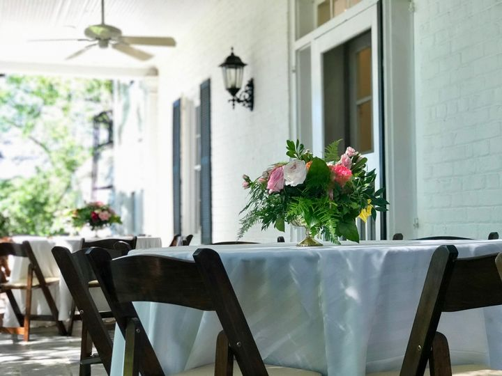 Porch seating for reception
