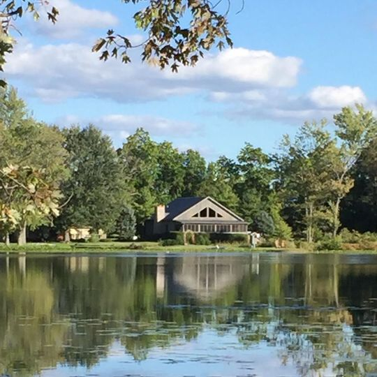 The lake by the lodge