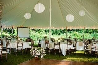 A fairytale tent by the lodge