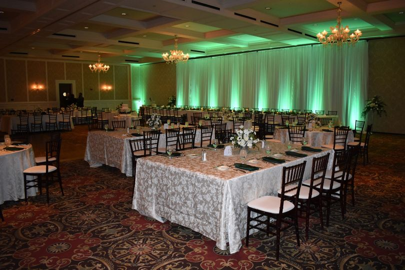Up-lighting for the head table
