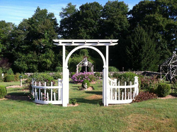 Picturesque garden entrance