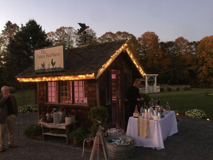 The quaint outdoor bar