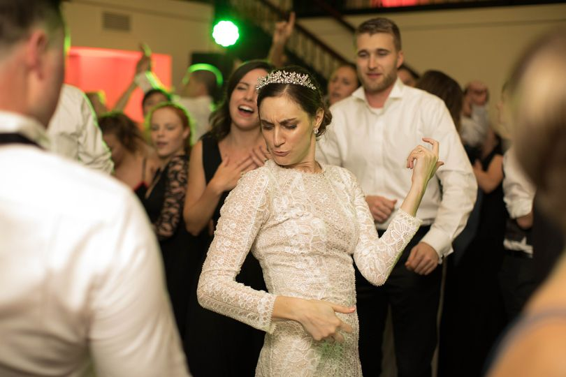 ... and the partying wedding