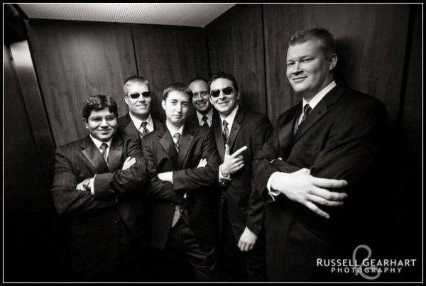 Soren & groomsmen in Bar Harbor Grand elevator @ Bar Harbor, ME