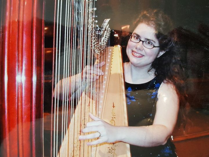 Beverly and her harp