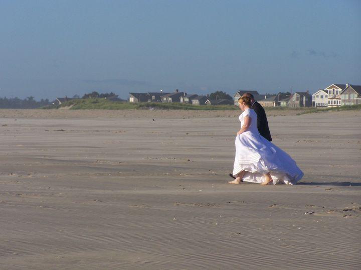 Couple walking on the seashore
