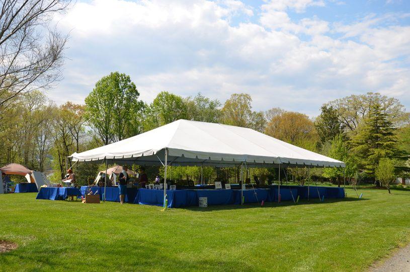 Pavillon tent reception