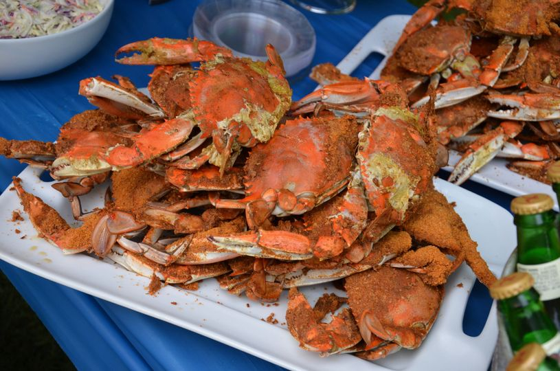 Buttered crab