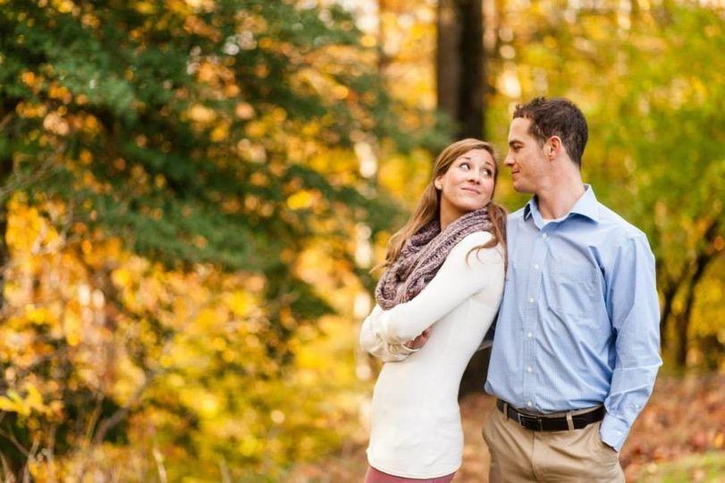 Autumn engagement photo shoots. The woodland colors make a splendid backdrop.