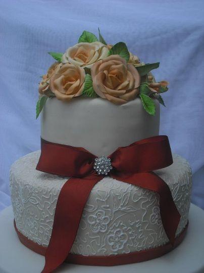 Earth tones Wedding Cake