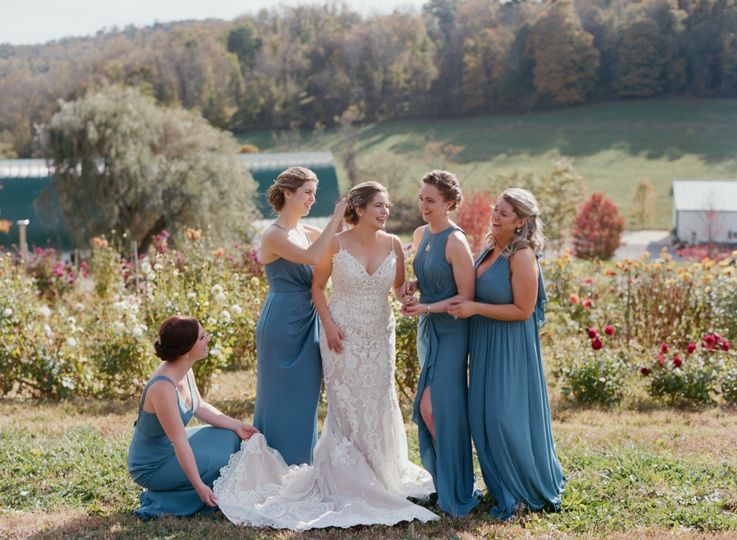 A bride and her best friends