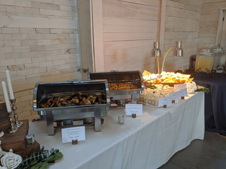 Buffet with unique lighting
