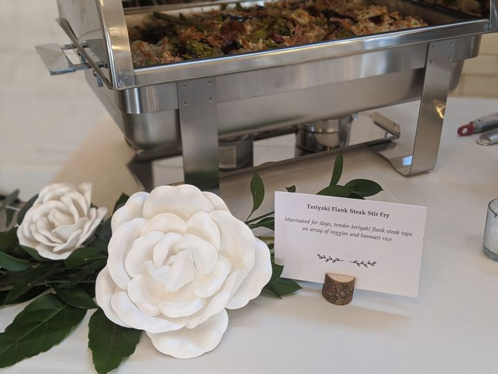 Buffet with floral decor
