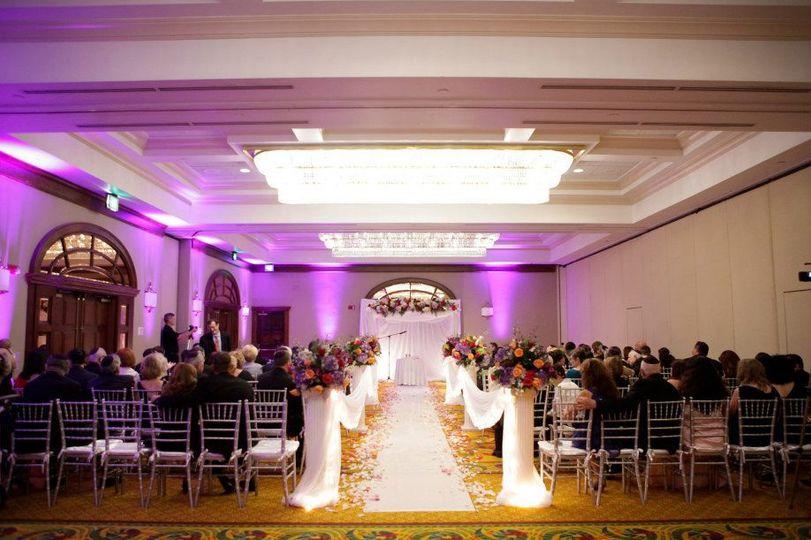 Indoor wedding ceremony ares