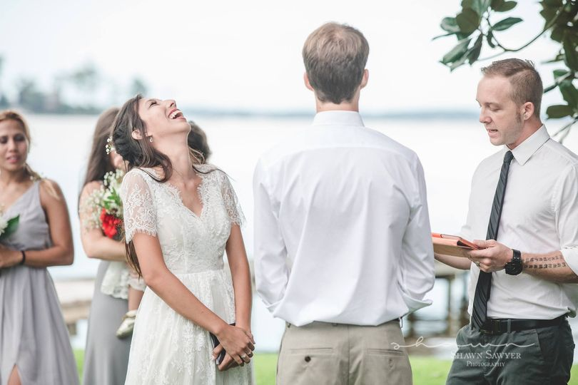 The joyous bride