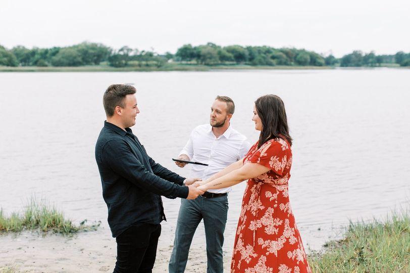A lakeside wedding