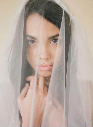 Bride in veil
