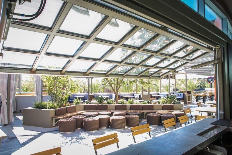 Private patio bar