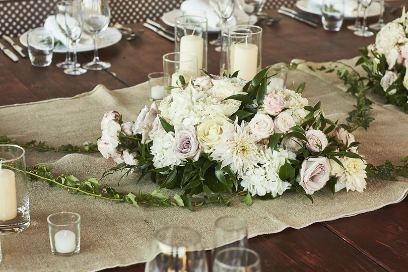 centrepiece with candles