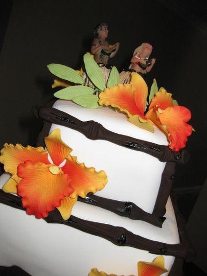 Cake detail.