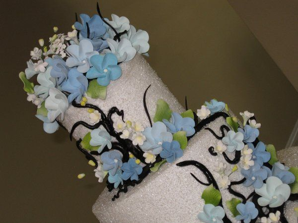 Detail of hand made sugar flowers