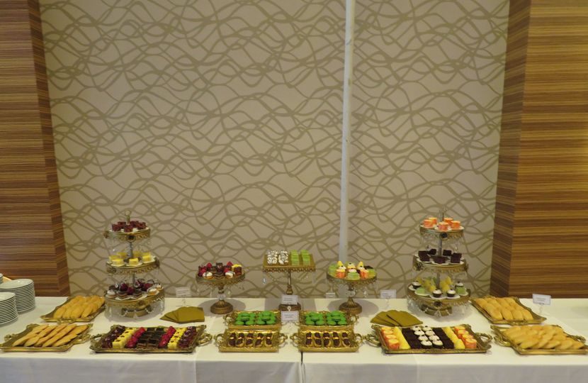 Dessert table at Pasea Hotel in Huntington Beach CA