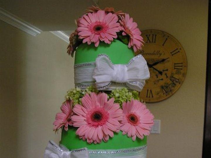 Tmx 1242524333837 Greenandpinkcake004 Azusa, California wedding cake