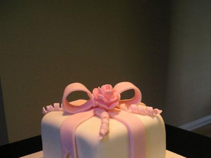 Tmx 1246309312580 Pinkandwhitefondantcake005 Azusa, California wedding cake