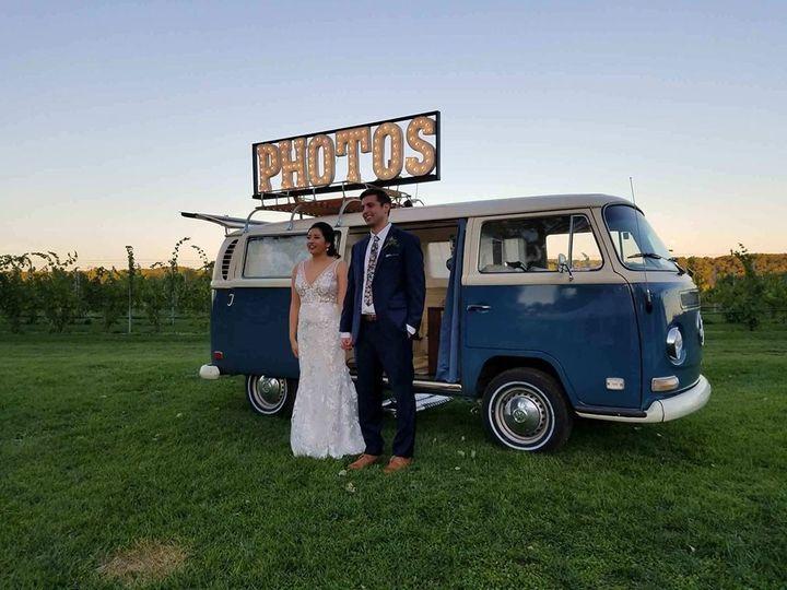 Tmx Vw Photobooth Bus With Bride Groom 51 1088791 1571843342 Traverse City, MI wedding transportation