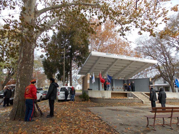 Veterans memorial park setup