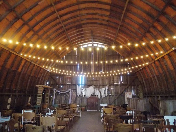 Inside the barn at allen acres