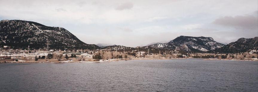 Estes Park drone shot