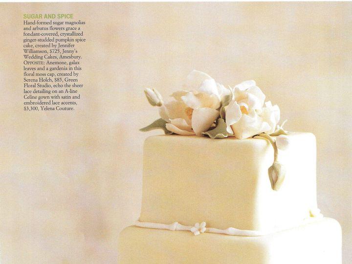 Tmx 1413508306417 Magnolia Amesbury, Massachusetts wedding cake