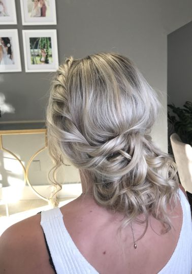 Textured Up Do Bride Trial