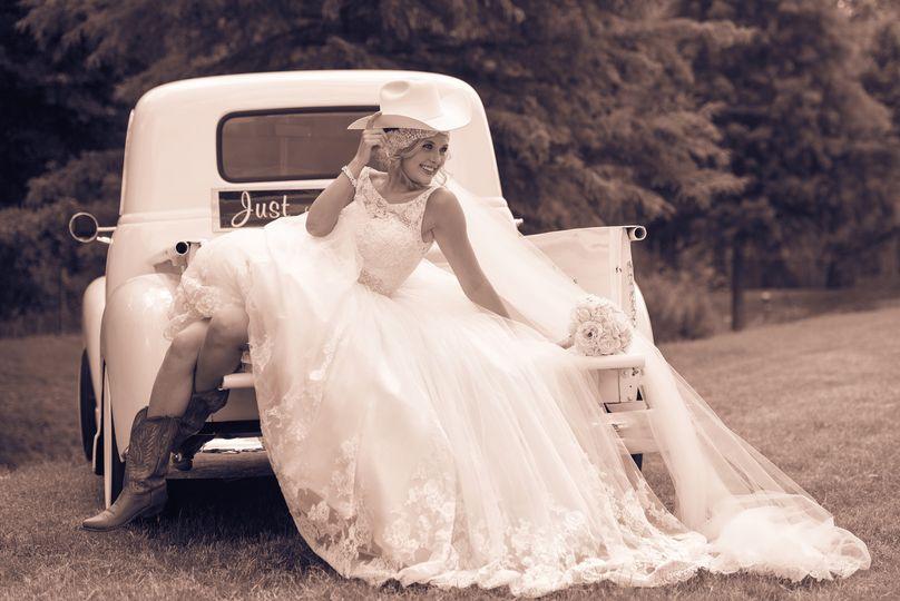 texas bride on 1953 chevey