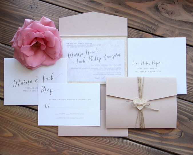 Flower invitations